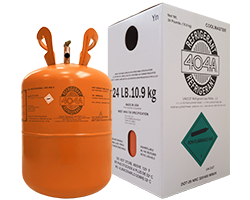 R-404A Refrigerant Image with Product Packaging Box